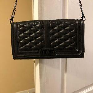 Rebecca Minkoff black quilted crossbody bag